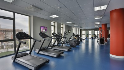 Fitness and workout room